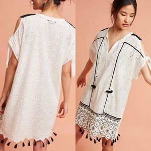 Anthropologie Black and White Tunic Dress